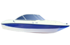 White and blue boat watercraft