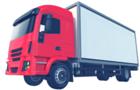 red transport truck
