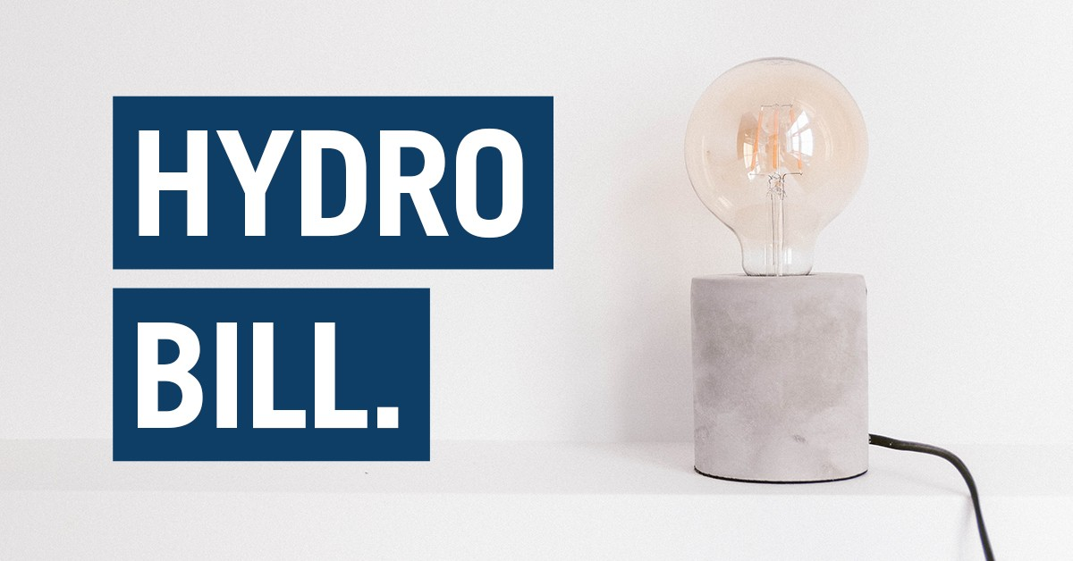 reduce your hydro bill